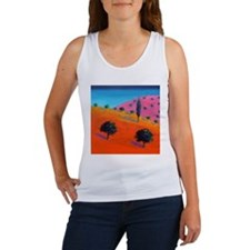 Pink Hill (acrylic on card) - Women's Tank Top
