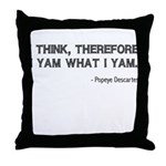 FIN-popeye-descartes.png Throw Pillow