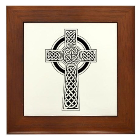 Celtic Cross 1 Framed Tile