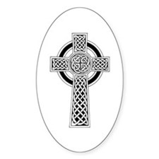 Celtic Cross 1 Oval Decal