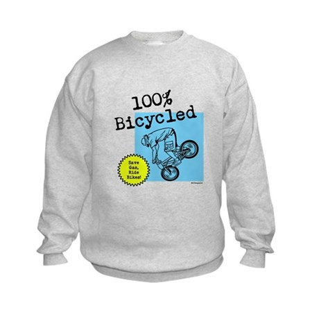 100% Bicycled - Kids Sweatshirt