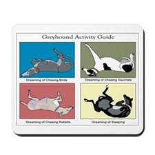 Greyhound Activity Guide Mousepad