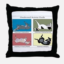 Greyhound Activity Guide Throw Pillow