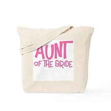 Hipster Aunt of Bride: Pink Tote Bag