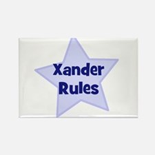 Xander Rules Rectangle Magnet
