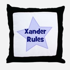 Xander Rules Throw Pillow