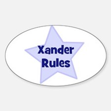Xander Rules Oval Decal