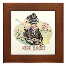 Pigs Rock 2007 Framed Tile