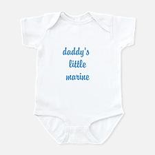 """Daddy's little marine"" Infant Bodysuit"