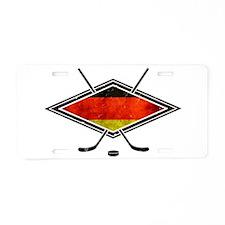 Eishockey Deutsche Flag Aluminum License Plate