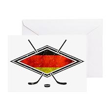 Eishockey Deutsche Flag Greeting Card