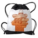 FIN-mexican-food.png Drawstring Bag