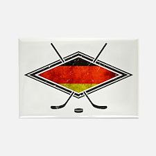 Eishockey Deutsche Flag Rectangle Magnet