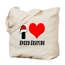 I Love Speed Skating Tote Bag