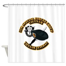 SOF - 5th SFG Dagger - DUI V2 Shower Curtain