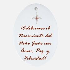 Christmas Holiday Adorno De Navidad Oval Ornament