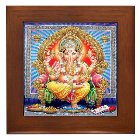 Ganesh Framed Tile