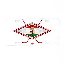 Magyar Jégkorong Hockey Flag Aluminum License Plat