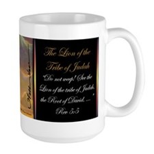 """""""The Lion of Judah"""" Christian Fine Art Mug"""