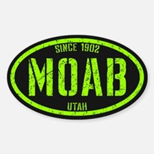 Moab Distressed Lime Sticker (Oval)