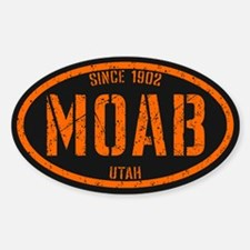Moab Distressed Safety Sticker (Oval)