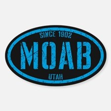 Moab Distressed Blue Sticker (Oval)