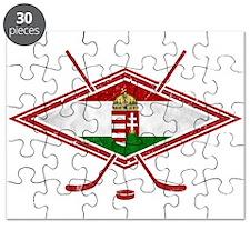 Magyar Jégkorong Hockey Flag Puzzle