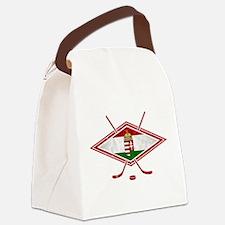 Magyar Jégkorong Hockey Flag Canvas Lunch Bag