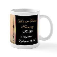 """""""He is our peace"""" Fine Art Small Coffee Mug"""