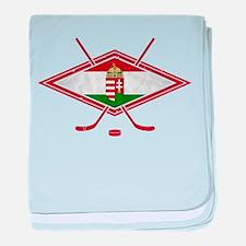 Magyar Jégkorong Hockey Flag baby blanket