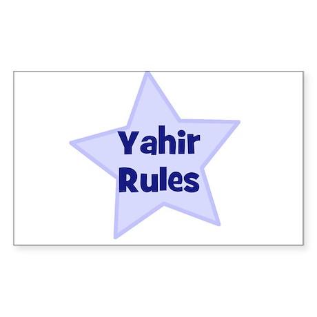 Yahir Rules Rectangle Sticker