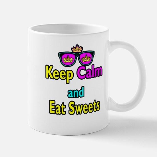 Crown Sunglasses Keep Calm And Eat Sweets Mug