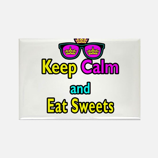 Crown Sunglasses Keep Calm And Eat Sweets Rectangl