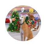 Treat for a Greyhound (msc) Ornament (Round)