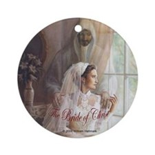"""The Bride of Christ"" Keepsake Ornament (Round)"