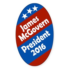 James McGovern for President 2016 Oval Decal