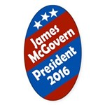 James McGovern for President 2016 Oval Sticker