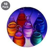 """Erlenmeyer Flasks 3.5"""" Button (10 pack)"""