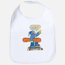 Funny Snowboarder Bib