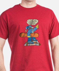 Funny Snowboarder  T-Shirt