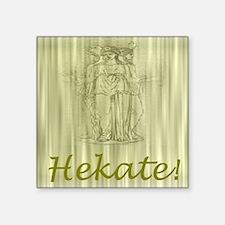 Antiqued Hekate Square Sticker 3&Quot; X 3&Quot;