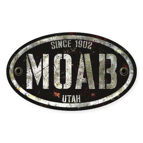 Moab Rivet Grunge Sticker (Oval)