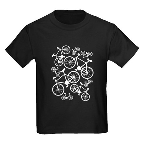Bicycles Big and Small Kids Dark T-Shirt