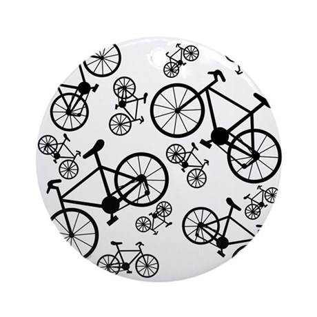 Bicycles Big and Small Ornament (Round)