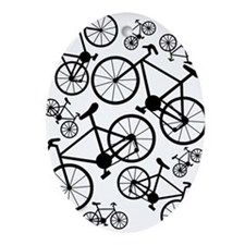 Bicycles Big and Small Ornament (Oval)