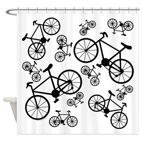 Bicycles Big and Small Shower Curtain
