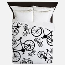 Bicycles Big and Small Queen Duvet