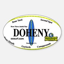 Doheny Surf Spots Rectangle Decal