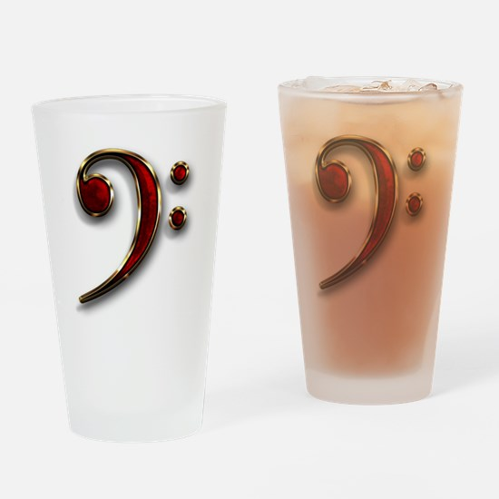 Bass Clef Logo Drinking Glass