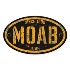 Moab Grunge Rivet Gold Decal